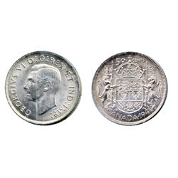 1941. ICCS Mint State-64; 1952. 'Double H.P.' variety. Believed to be a scarce variety. Both are bri
