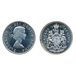 1961. ICCS Mint State-64. Designated an 'Ultra Heavy Cameo'. A brilliant coin, with great contrast.