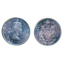 1963. ICCS Mint State-65. Even purple-blue toning.