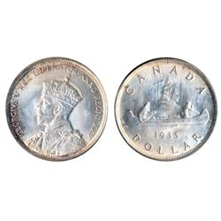 1935. ICCS Mint State-66. A fully brilliant and lustrous Gem.