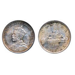 1935. PCGS graded Mint State-66. An absolute Gem, with full luster and a hint of premium quality ton