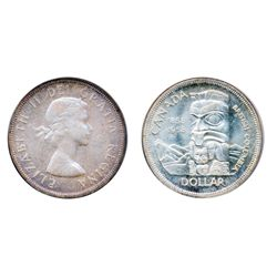 1958. PCGS graded Mint State-66. Very light shades over full underlying lustre. A superior and very
