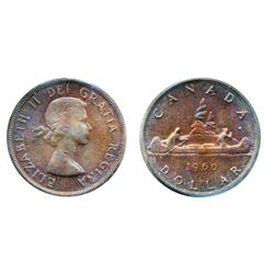 1960. ICCS Mint State-65. Even, rich iridescent gem toning.