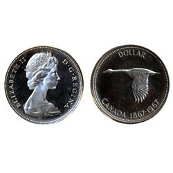 1964, 1966, Lg. Beads. Both ICCS Proof-Like-65. Both Heavy Cameo; 1967. ICCS Proof-Like-66. Heavy Ca