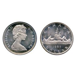 1965. Type 3. Large Beads, Blunt 5. PCGS graded Proof-Like-66. A brilliant example, with a Heavy Cam
