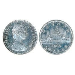 1965. Type 3. Large Beads, Blunt 5. Proof-Like-64 or better. Lot of two (2) coins, both brilliant wi