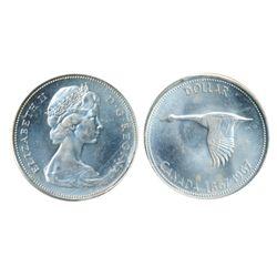 1967. ICCS Mint State-65. Blast white. A Gem.