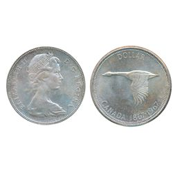 1967. ICCS Mint State-65. Light pale bluish toning. A Gem.