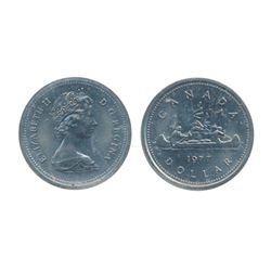1968. No Island. 1977, Obv. 2, Rev. 2. Both ICCS Mint State- 65. Lot of two (2) coins.