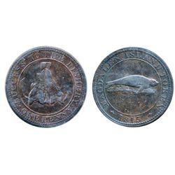Breton-520. CH-LC1. Magdalen Island Penny. 1815. ICCS Very Fine-30.