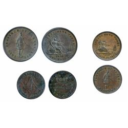 Breton-528. PC-4. Quebec Bank Token. 1852. One Penny. ICCS Very Fine-30; Breton-529. PC-3. Quebec Ba