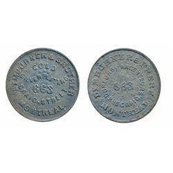 Breton-579. Lymburner & Frere. Pewter. ICCS Mint State-60.