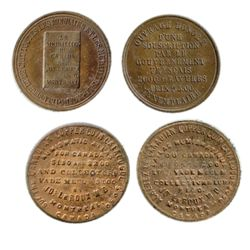 Breton-582. Jos. LeRoux. English & French. Copper. ICCS Mint State-62. Breton-585. LeRoux Coin Cabin