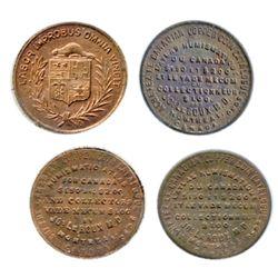 Breton-582. Jos. LeRoux. English & French. Copper. ICCS Mint State-60. Breton-583. LeRoux. Crest. Fr