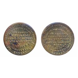 Breton-582. Jos. LeRoux. English & French. Brass. ICCS Mint State-60.