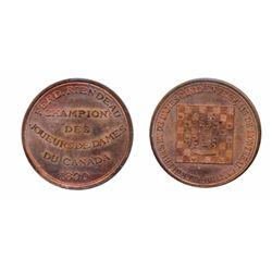 Breton-587a. Checker Club. Fred Riendeau. ICCS Mint State-65.
