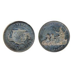 Breton-607. P.O. Tremblay. English. Pewter. ICCS Mint State-60.