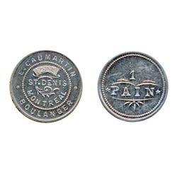Breton-659. E. Caumartin. 1205 St. Denis. 1 Pain. Alum. ICCS Mint State-60.