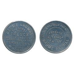 Breton-664. L.R. Baridon. 1891. Alum. ICCS Mint State-62.