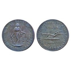 Breton-717. CH-UC3. Lesslie & Sons. Two Pence. 1822. ICCS Extra Fine-40.