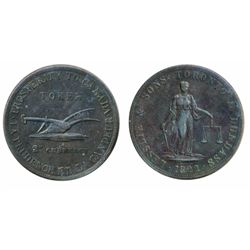 Breton-717. CH-UC3. Lesslie & Sons. Two Pence. 1822. ICCS Very Fine-30.
