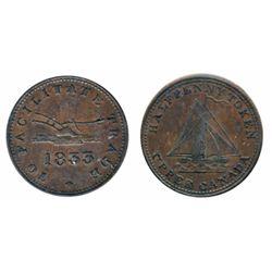 Breton-730. UC-12B2. To Facilitate Trade. 1823. Half Penny. ICCS Extra Fine-40.