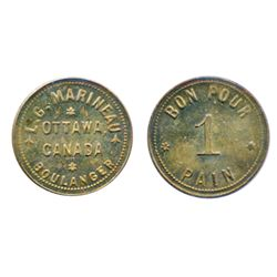 Breton-741. L.G. Marineau. Ottawa. 1 Pain. ICCS Mint State-63.