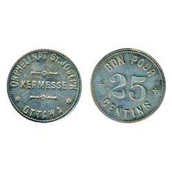 Breton-799. Orphelinat. St. Joseph. 25 Centins. ICCS Mint State-65.
