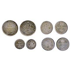 Anchor Money. Breton-858. $1/4 Dollar. CH-NC-1B1. 1822. Open '2'. First 2 over 2. VF; Breton-859. CH