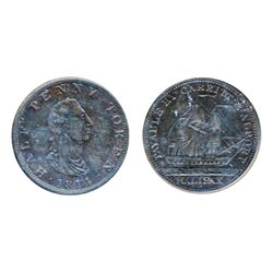 Breton-881. NS-9. Carritt & Alport Half Penny Token. 1814. ICCS Very Fine-30.