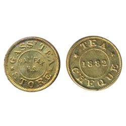 Breton-902. Gass' Tea Cheque. ICCS Mint State-65.