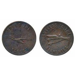 Breton-917. PE-5B1. Hook reverse. (1860). ICCS Extra Fine-40. Breton-918. PE-7A1. P.E.I. 1855. ICCS