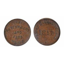 Breton-919. PE-7C1. 1857. P.E.I. ICCS Extra Fine-45.