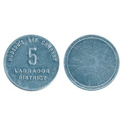 Hudson's Bay Company. Labrador District. (1919). 5, 10, 20 M.B. tokens. Gingras-255a, 255c, 255d. Al