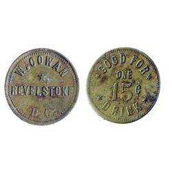 Breton-938. W. Cowan. 15 Cents Drink. ICCS Extra Fine-40.
