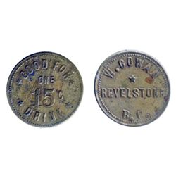 Breton-938. W. Cowan. 15 Cents Drink. ICCS Extra Fine-45.