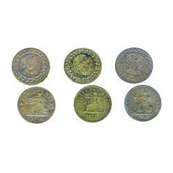 Breton-960. Tiffin. 1812. Half Penny. LC-48A1. ICCS Fine-15; LC-48B1. ICCS Very Fine-20; LC-48B2. IC