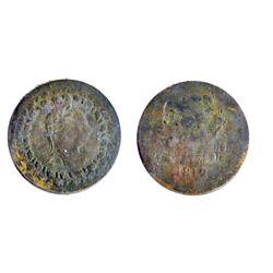 Breton-961. LC-48C2. Tiffin. Half Penny. Brass. Clockwise. ICCS Mint State-60.