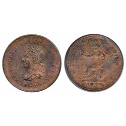 Breton-967. NS-22. Trade & Navigation. 1838. Pure Copper Preferable to Paper. ICCS Mint State-60. 20