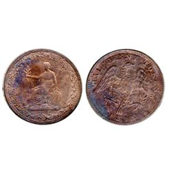 Breton-994. LC-54D2. Half Penny Token. 1815. Clockwise wreath. ICCS Mint State-62. Red. 60% luster.