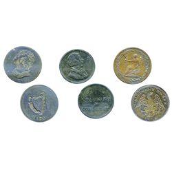 Breton-994. LC-54D2. Half Penny Token. 1815. Clockwise wreath. ICCS Extra Fine-45; Breton-1002. LC-5