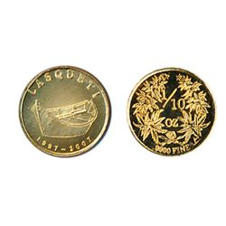 LASQUETI MINT. 1/10 Ounce. 1997-2007..9999 Gold. Obv: Dory. Rev: Herbs. BU.