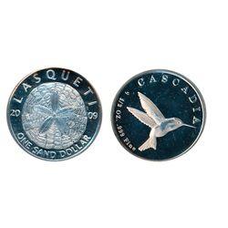 LASQUETI MINT. 1/2 Ounce. 2009..999 Silver. Obv: Sand Dollar. Rev: Hummingbird. CCCS graded Mint Sta