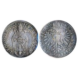 GERMANY. Murbach and Luders. Thaler. No Date, (ca. 1630). Dav-5617B. KM#14. Obv: St. Leodegarius wit