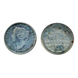 FIVE CENTS. 1862. ICCS Fine-15. (designated with scratches).