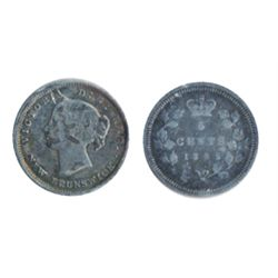 FIVE CENTS. 1862. VG-10. Gray tone.