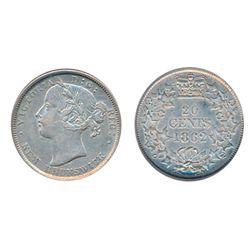TWENTY CENTS. 1862. ICG graded Extra Fine-45. A brilliant coin.