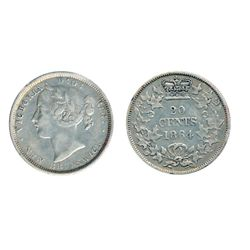 TWENTY CENTS. 1862, 1864. Lot of two (2) lightly toned pieces. Both Very Fine-20.