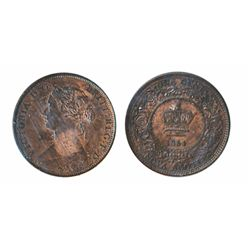 1/2 CENT. 1861. ICCS AU-55. 20% luster; 1864. ICCS AU-50. Brown. ONE CENT. 1861. Lg. Bud. ICCS AU-55