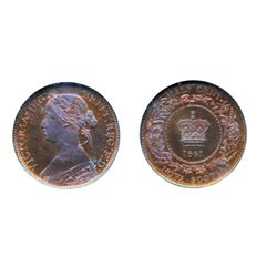 1/2 CENT. 1861. NGC graded SPECIMEN-64. Red-Brown. 30% remaining luster. Superb strike. Excellent 'e